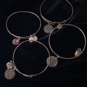 Set of 4 Alex and Ani bracelets